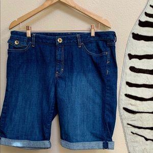 BANANA REPUBLIC Cuffed Denim Shorts